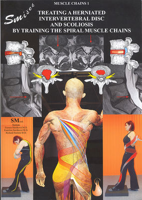 "Kirja ""Treating a herniated intervertebral disc and scoliosis by training the spiral muscle chains."""